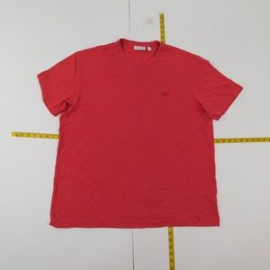 Lacoste 3XL Red Pink V Neck Tee  D-12-93702